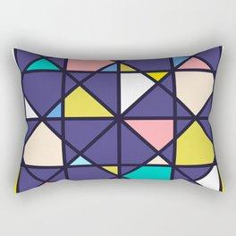 Geometric Architectural Design Kaleidoscope Colored Pattern Rectangular Pillow