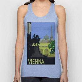 Vienna Austria Vintage Travel Unisex Tank Top
