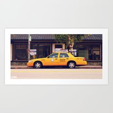 Yellow Cab Co ∫ Living Los Angeles Art Print