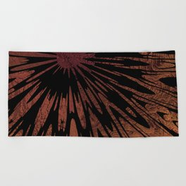 Native Tapestry in Burnt Umber Beach Towel