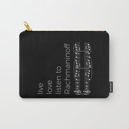 Live, love, listen to Rachmaninoff (dark colors) Carry-All Pouch