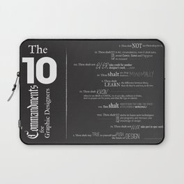 The 10 Commandments for Graphic Designers Laptop Sleeve