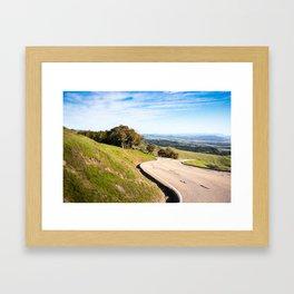 Winding road near Hearst Castle Framed Art Print