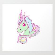 Pastel unicorn Art Print