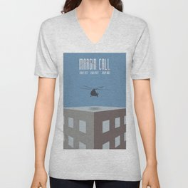 Margin Call, minimalist movie poster, Kevin Spacey, Stanley Tucci, Demi Moore Unisex V-Neck