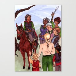 ...and the Men Wept Canvas Print