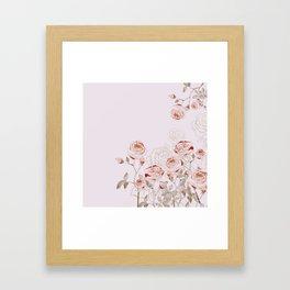 FRENCH PALE ROSES Framed Art Print