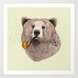 Sailor Bear Art Print