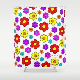 Pop Flowers Shower Curtain