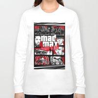 gta Long Sleeve T-shirts featuring Mashup GTA Mad Max Fury Road by Akyanyme