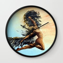 Season of the Legend - Icarus Descending Wall Clock