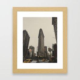 Flatiron building, New York architecture, NY building, I love NYC Framed Art Print