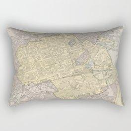 Vintage Map of Edinburgh Scotland (1901) Rectangular Pillow