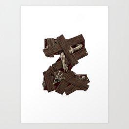 Geek letter Z Art Print