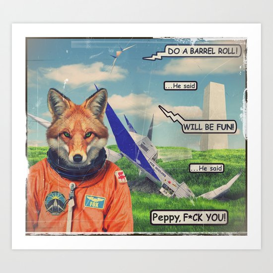 Starfox - F*CK YOU PEPPY! Art Print
