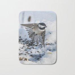 Christmas Chickadee Bath Mat