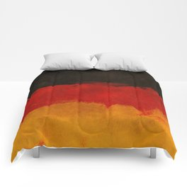 Watercolor flag of Germany Comforters