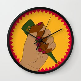 Henna Power Wall Clock