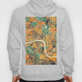 London Mosaic Map #3 Hoody