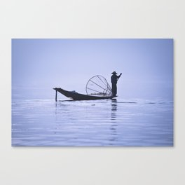 FISHERMAN AT INLE LAKE II Canvas Print