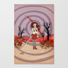 Fiona in the Poppies Canvas Print