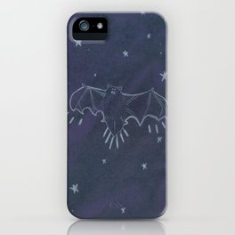 Long Tailed Bat in Night Sky iPhone Case