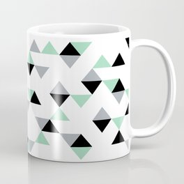 Triangles Mint Grey Coffee Mug