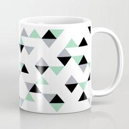 Triangles Mint Grey Coffee Mug