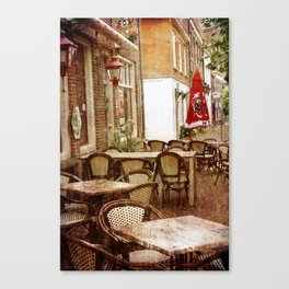 Sunday morning in the town Canvas Print