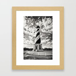 Sepia - Cape Hatteras Lighthouse, Outer Banks, NC Framed Art Print
