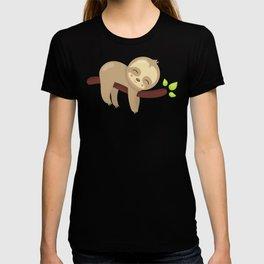 Cute Sloth, Baby Sloth, Lazy Sloth, Sleeping Sloth T-shirt