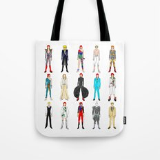 Outfits of Bowie Fashion on White Tote Bag