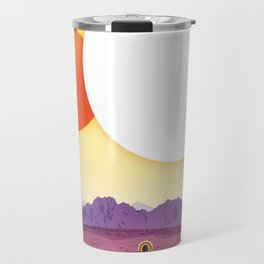 NASA Retro Space Travel Poster #8 Kepler 16b Travel Mug