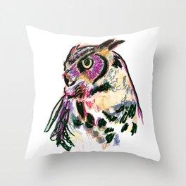 Owl Totem Print Throw Pillow
