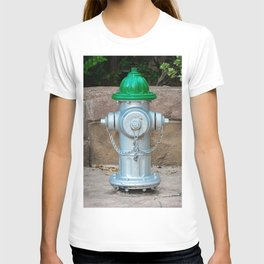 Super Centurion in Sliver and Green Fire Hydrant Fire Plub T-shirt