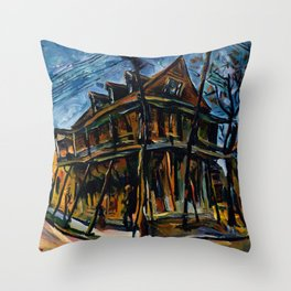 African American Masterpiece 'Jacobia Hotel' Florence, South Carolina by William Henry Johnson Throw Pillow