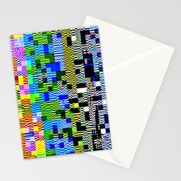 City lights glitch Stationery Cards