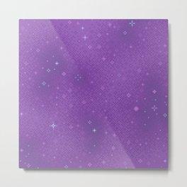 Purple Night Nebula Metal Print