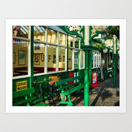 Platform at Sheringham station Art Print