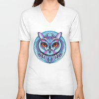 frozen V-neck T-shirts featuring Frozen by Ola Liola