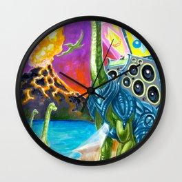 """ Neck Brace "" by Adam France Wall Clock"