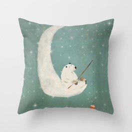 catch a falling star Throw Pillow