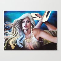 versace Canvas Prints featuring VERSACE GODDESS by CARLOSGZZ