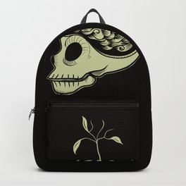 Cute Skulls Think Green Backpack