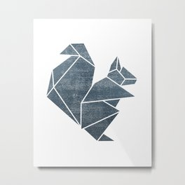 Origami squirrel Metal Print