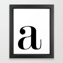 """Monogram Series Letter """"a""""  Framed Art Print"""