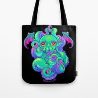 cthulhu Tote Bags featuring Cthulhu by Gunkiss