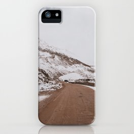 Amazing road and Snow capped mountains in leh-ladakh iPhone Case