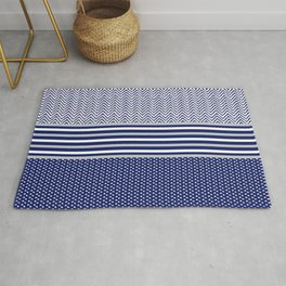 Ikat Blue Chevron Rug