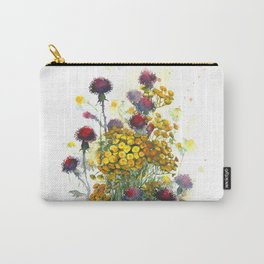 Watercolor wildflowers, aquarelle Carry-All Pouch